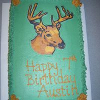 Deer Cake Another deer cake for a birthday. FBCT of deer. All buttercream, cho. and vanilla cake. Had a difficult time with this FBCT.