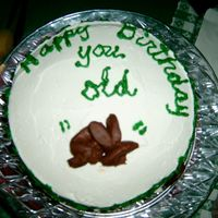 Old Poop Cake My mom made this cake for me for my birthday. She asked what kind of cake I wanted...white, choc, etc, and I said I didn't care, so...