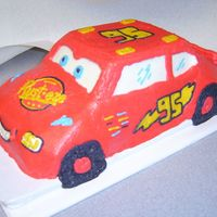 Lightening Mcqueen   My version of lightening mcqueen. I used the 3d cruiser pan. Much easier than I thought it would be.