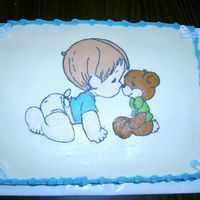 Precious Moments Baby Shower FBCT for my friend's baby shower. She is having a boy, and the theme was diapers, so I thought a boy in a diaper would be fitting.