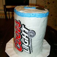 Coors Light Cake My brothers, husband, and friend made this cake for me for my birthday. I wasn't allowed to give and advice or help at all. I think it...