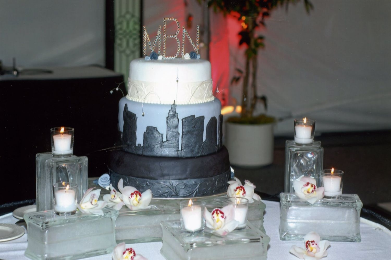 Nate & Muriel's Wedding Cake This is only the second wedding cake I have done, it was for my brothers wedding. The wedding was completely black & white with hot...