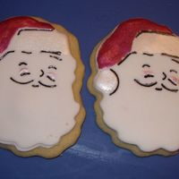 Santa These are cookies I made for work.