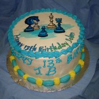 Chess Buttercream with fondant trimmings