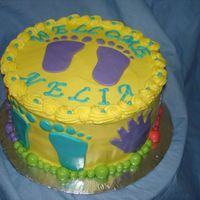 Welcome Nelia Yellow chiffon cake with lemon filling. Fondant accessories