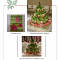 Holiday Dinner Centerpiece Cake I made this cake as the centerpiece for the dessert table at a Holiday Dinner and Fashion Show attened by over 900 women. I was asked to...