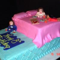 "Slumber Party I have to thank ""socake"" for the inspration for this cake. This is for 3 little girls, all best friends, turning 8. They had a..."