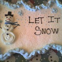 Snowman Cupcake Cake Cupcake cake for my sons school, french vanilla cupcakes iced in BC with a candy corn nose, the only MMF on the cake is the scarf on the...