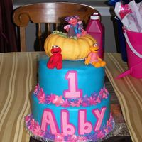 Abby Cadabby Cake For a little girl's first b-day. Covered in MMF and all decorations in MMF