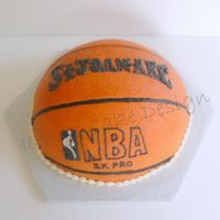 Sja Basketball All Buttercream! SJA done to resemble Spalding logo.