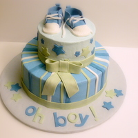 Oh Boy! Butter cream with fondant decorations
