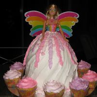 Barbie Magic Of The Rainbow Strawberry & yellow cake with BC.