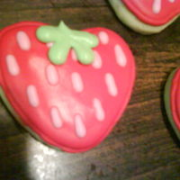 Strawberry decorated with royal icing. :0) tfl!