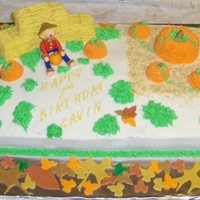 Pumpkin Patch Buttercream icing with Fondant Accents!! They loved it!!