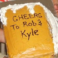 Beer Mug  This is just a simple 9x13 cake that I used to make into a Beer Mug. This was for my Brother's 21st Birthday and his Best Friends...