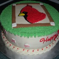 Go Moe! Birthday cake for husband of someone I work with. He coaches a little league team called, obviously, the Cardinals! Wish my diamond had...