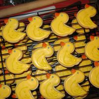 Regular No Fail Ducks this was my first attempt at decorating cookies. i need practice with icing consistency