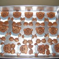 Baby Shower Teddy Bear choc no fail cookies
