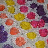 Roses i made 70 of these flowers. i also made tulips and some daises. i didn't realize it would take so long. but i'm happy with the...