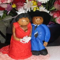Bride Groom Caketop I made this for a co-workers wedding. The figures are all fondant except for the hat.