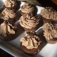 Milk Chocolate Cupcakes Chocolate Cupcake with chocolate buttercream and chocolate sprinkles