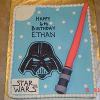Star Wars Cake I made this cake for a 6th birthday.