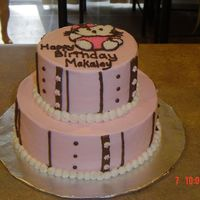 Hello Kitty Two Tiered Cake