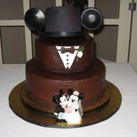 Mickey Mouse Groom's Cake I made this cake for my Godchild's Grooms Cake. He loves Disney World, proposed at Disney World and went on honeymoon at Disney world...