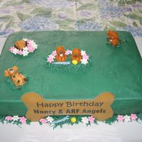 Greedy Puppies I made this cake for our ARF Animal Rescue Foundation Birthday party. This is an organization that rescues dogs and rehabilitates them for...