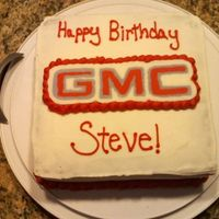 Gmc Logo Just a quick cake I threw together for my father-in-law's birthday. Chocolate cake with fresh whipped cream filling, buttercream...