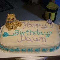 "Cat Cake Made for a little girl having a birthday party based on ""The Cat"" This was my first 3-d animal made out of cupcakes. I used 2..."
