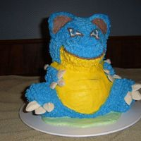 3D Blastoise Pokemon Cake This is a Pokemon turtle called Blastoise that I made from the 3D bear and 1/2 of the sports ball pan, for my sons 8th B-day. The water...