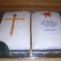 Bible Cake Bible cake I made for my churches 1st year anniversary
