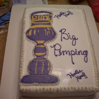Big Pimpin' Cake made for my brother-in-law's birthday.