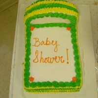 Baby Shower Another cake I made for my sister on her baby shower, first time attempt to make one of these, her colors were green and yellow, I wasn&#...