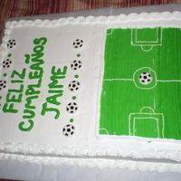 Soccer Birthday Cake I made this for my friends brother....it was tres leches, he loves soccer, everyone really liked it.