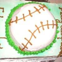 Birthday Cake, Baseball This was my first attempt to make a baseball cake.