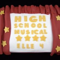 High School Musical 9 x 13 chocolate cake for a 4 yr old HSM fan. Inspration from thegrrrl and many others here on CC. Buttercream base and fondant accents.