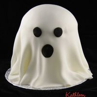 "Another Ghost I did another Ghost for a Halloween party we went to. I made this one 3 6"" layers and half of the sports ball. I liked that it was a..."