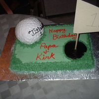 Golf Cake This was a golf cake I did for my boyfriend and Grandpa's birthdays. They are my biggest fans and it just so happens that their...