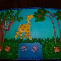 Jungle Scene my first attempt at piping animals
