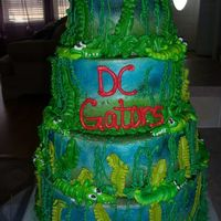 Gator Cake This cake was done for a Company of Soldiers