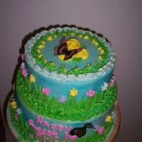 Butterfly Cake BUTTERFLY CAKE FOR 16 YEAR OLD with rice paper butterflies