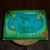 Ducks And Frogs Cake for small child's birthday