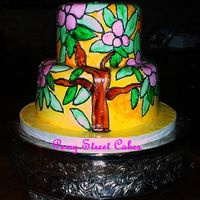 "Stained Glass Cake This cake was inspired by the church windows where the bride and groom had their ceremony. Got lots of ""how did you DO that?!?!?""..."