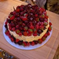 Fresh Cream And Fruit this cake was a 12inch sponge with two pints of whipped cream and tons of blueberries, raspberries, strawberries and cherries with...