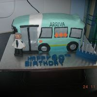 Bus Cake This was for a 60 th birthday for a man who drove an ariva bus. It was great fun to make and I was really pleased with the little man he...