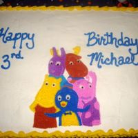 Backyardigans Full sheet cake, all b/c