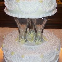 Daisy Wedding Cake This is my first wedding cake and I'm pleased with the way it turned out and the bride liked it. I found out, however, that I didn&#...