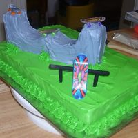 Skateboarding Cake I made this for my son's 8th birthday.